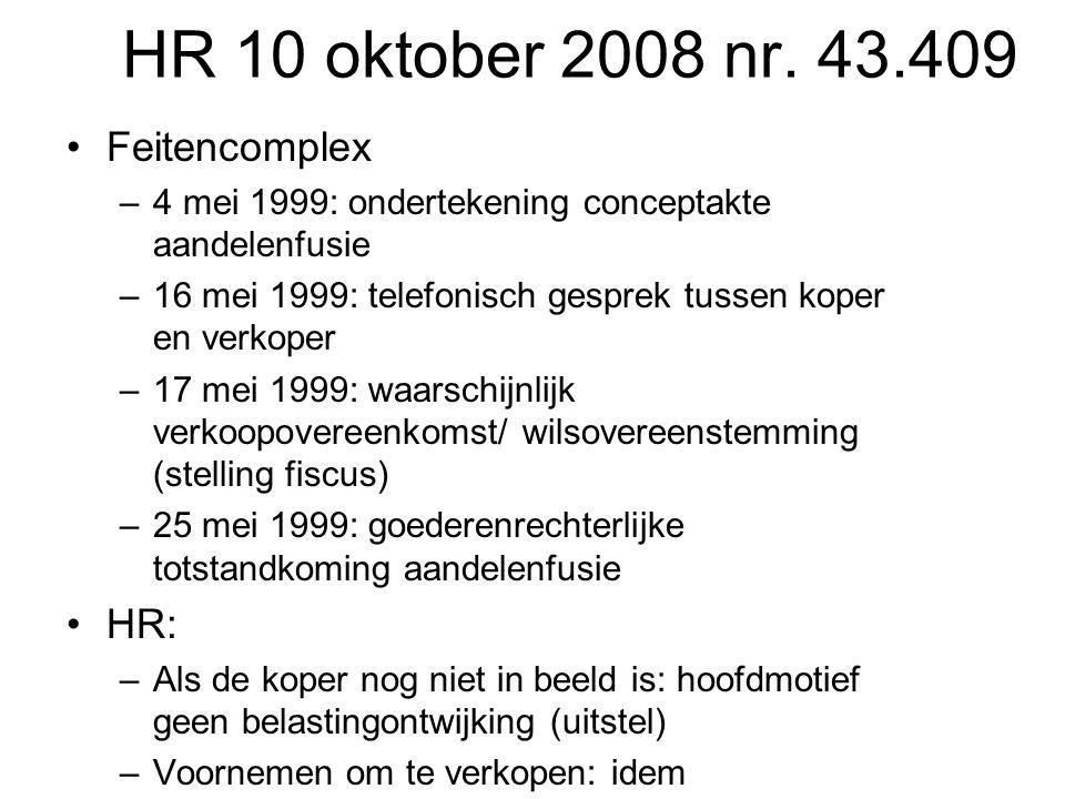 HR 10 oktober 2008 nr. 43.409 Feitencomplex HR: