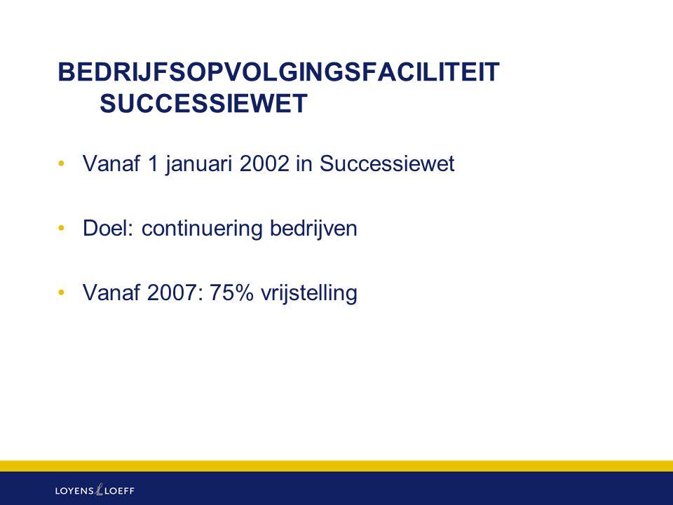 BEDRIJFSOPVOLGINGSFACILITEIT SUCCESSIEWET