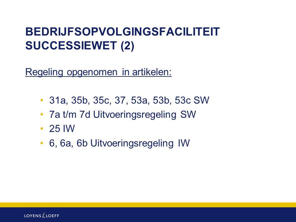BEDRIJFSOPVOLGINGSFACILITEIT SUCCESSIEWET (2)