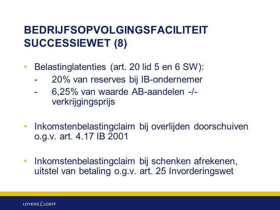 BEDRIJFSOPVOLGINGSFACILITEIT SUCCESSIEWET (8)