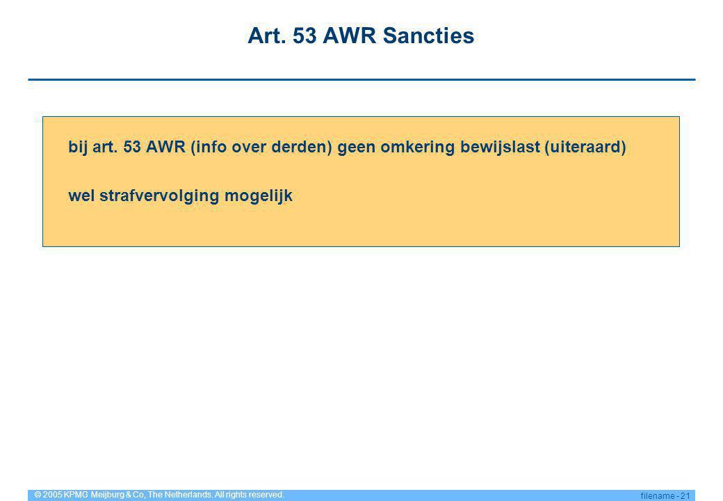 Art. 53 AWR Sancties bij art.