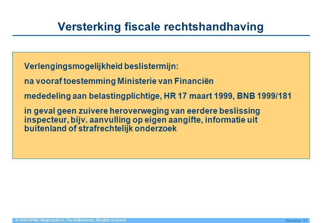 Versterking fiscale rechtshandhaving