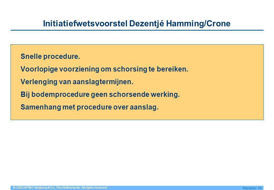 Initiatiefwetsvoorstel Dezentjé Hamming/Crone