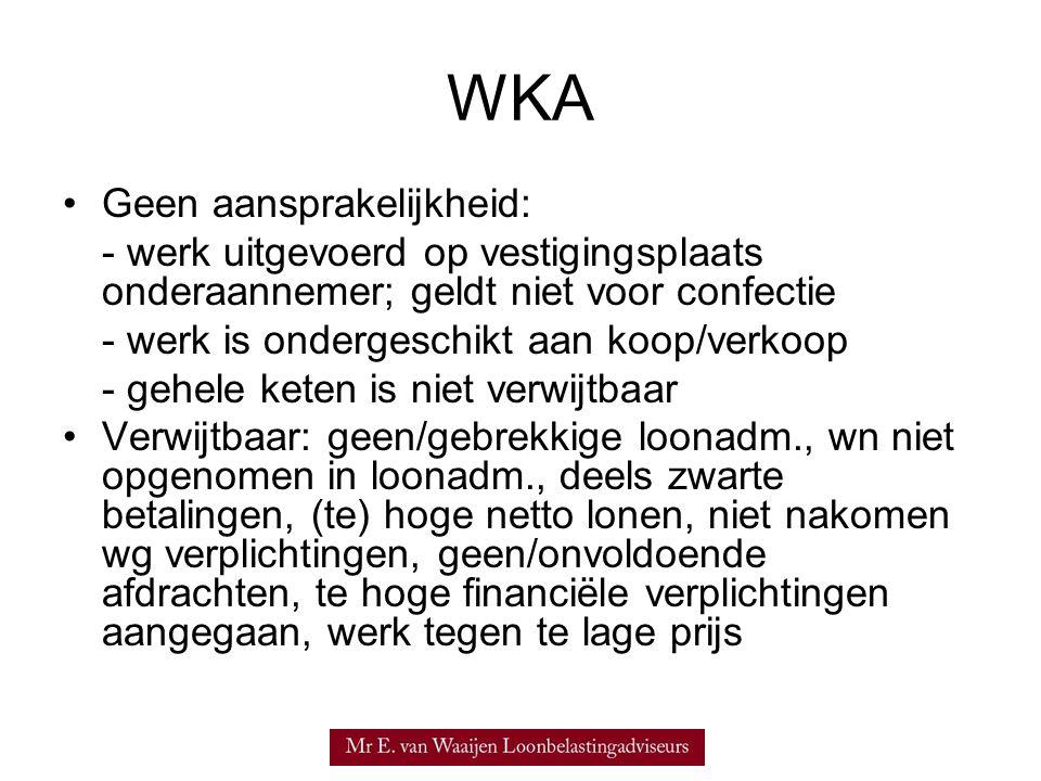WKA Geen aansprakelijkheid: