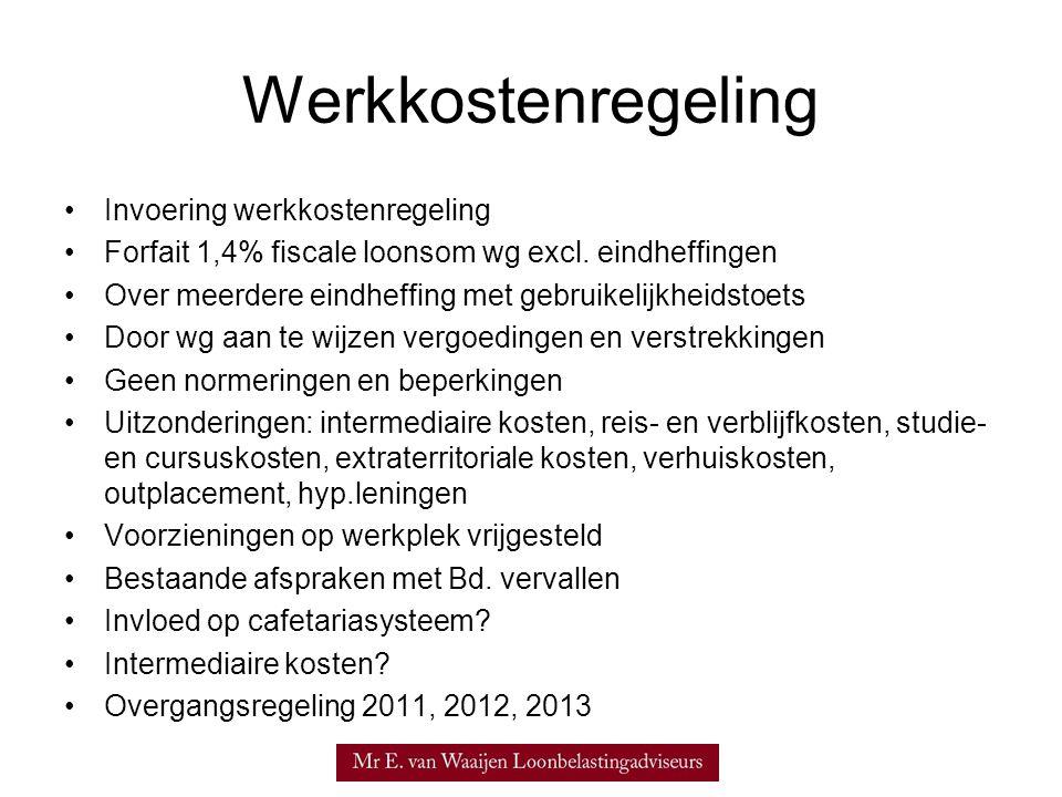 Werkkostenregeling Invoering werkkostenregeling