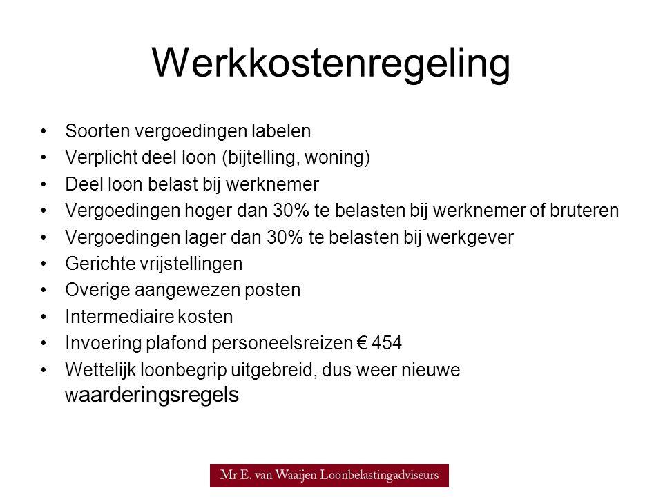 Werkkostenregeling Soorten vergoedingen labelen