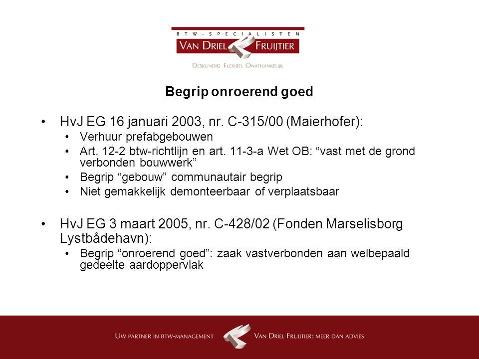 HvJ EG 16 januari 2003, nr. C-315/00 (Maierhofer):