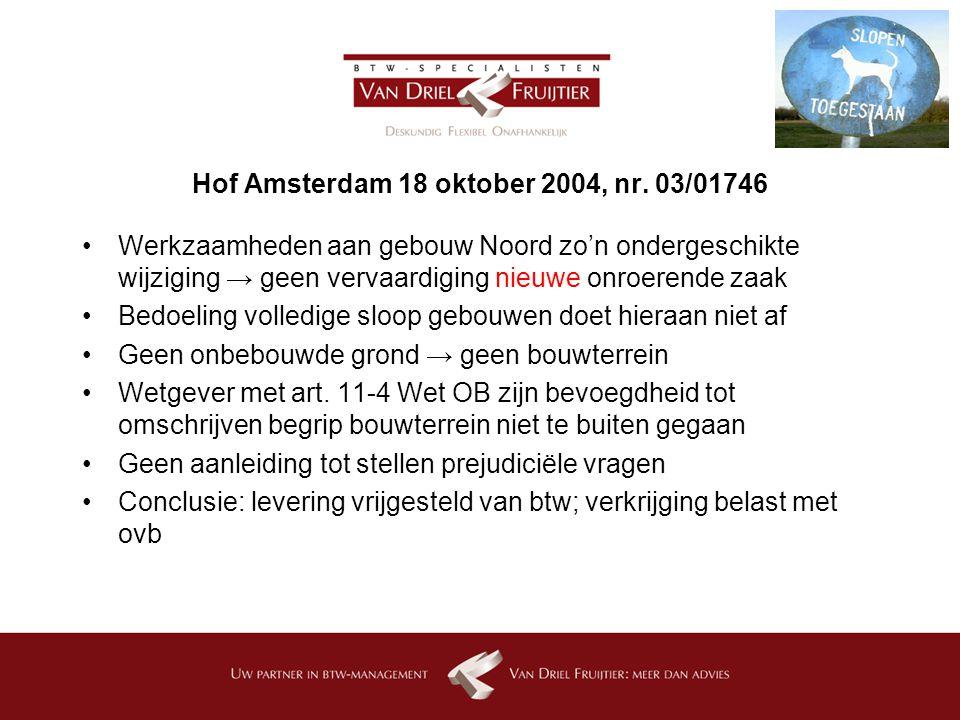 Hof Amsterdam 18 oktober 2004, nr. 03/01746
