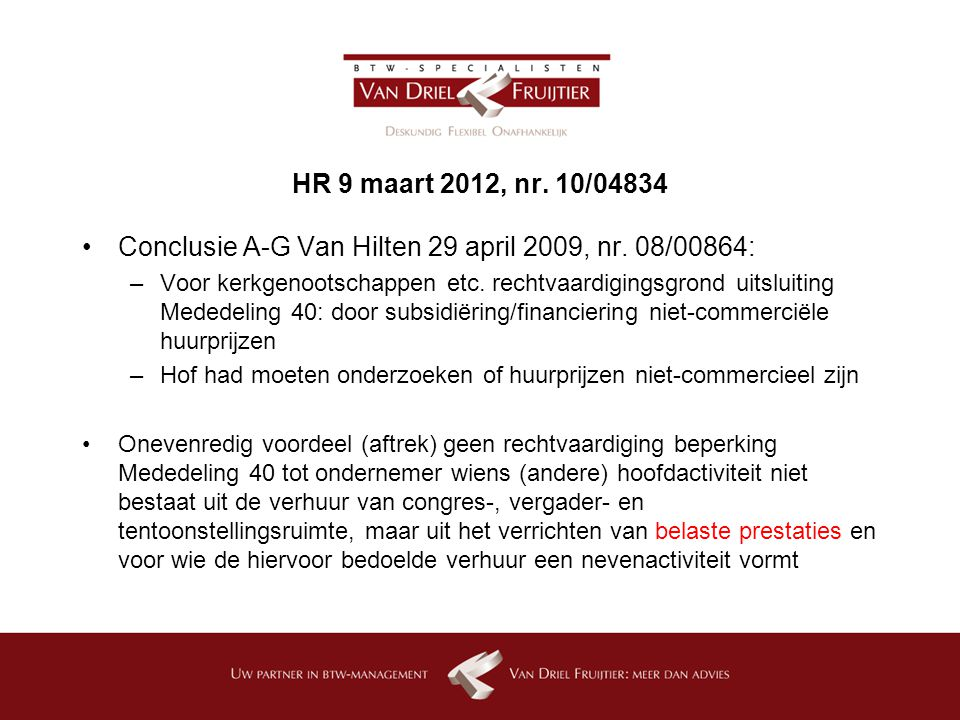 Conclusie A-G Van Hilten 29 april 2009, nr. 08/00864: