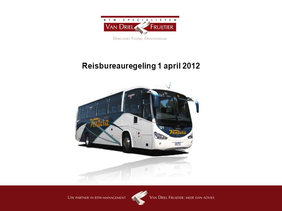 Reisbureauregeling 1 april 2012