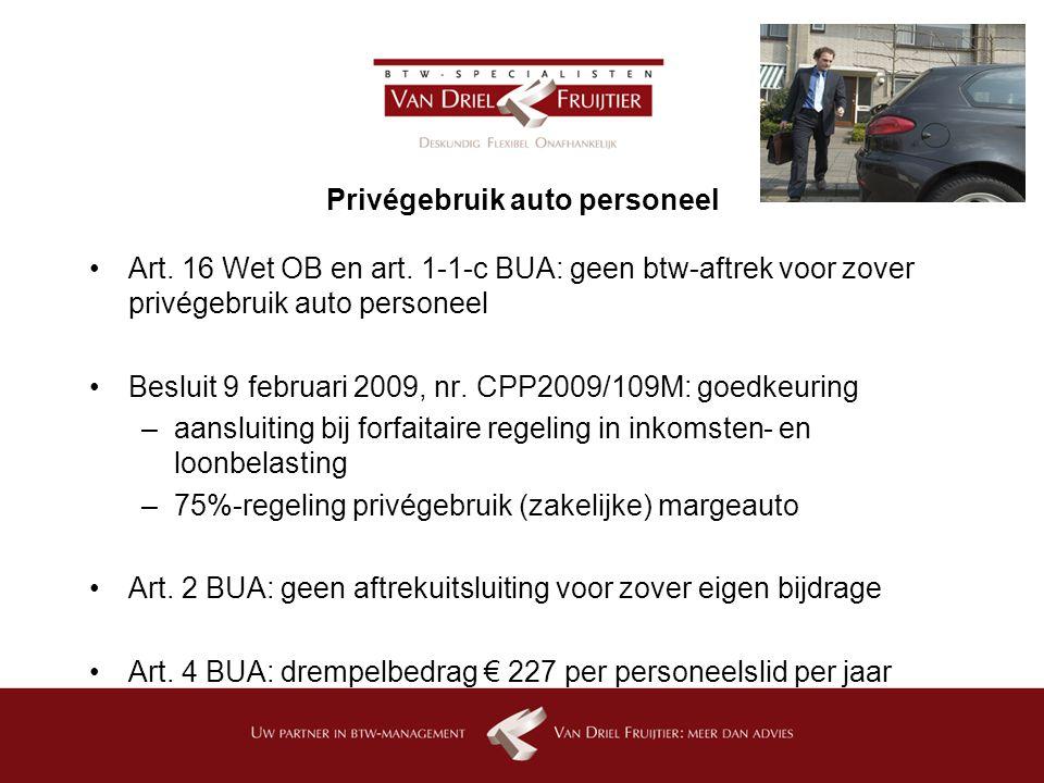 Privégebruik auto personeel
