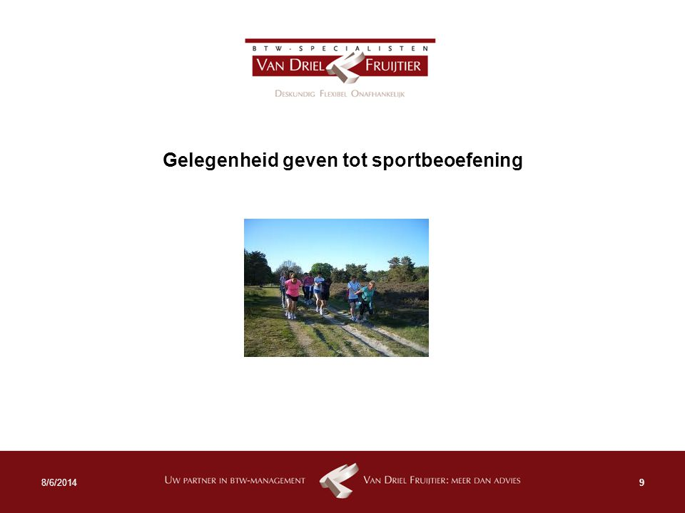 Gelegenheid geven tot sportbeoefening