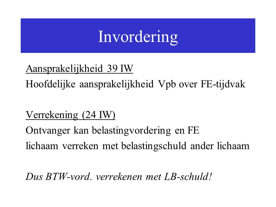Invordering Aansprakelijkheid 39 IW