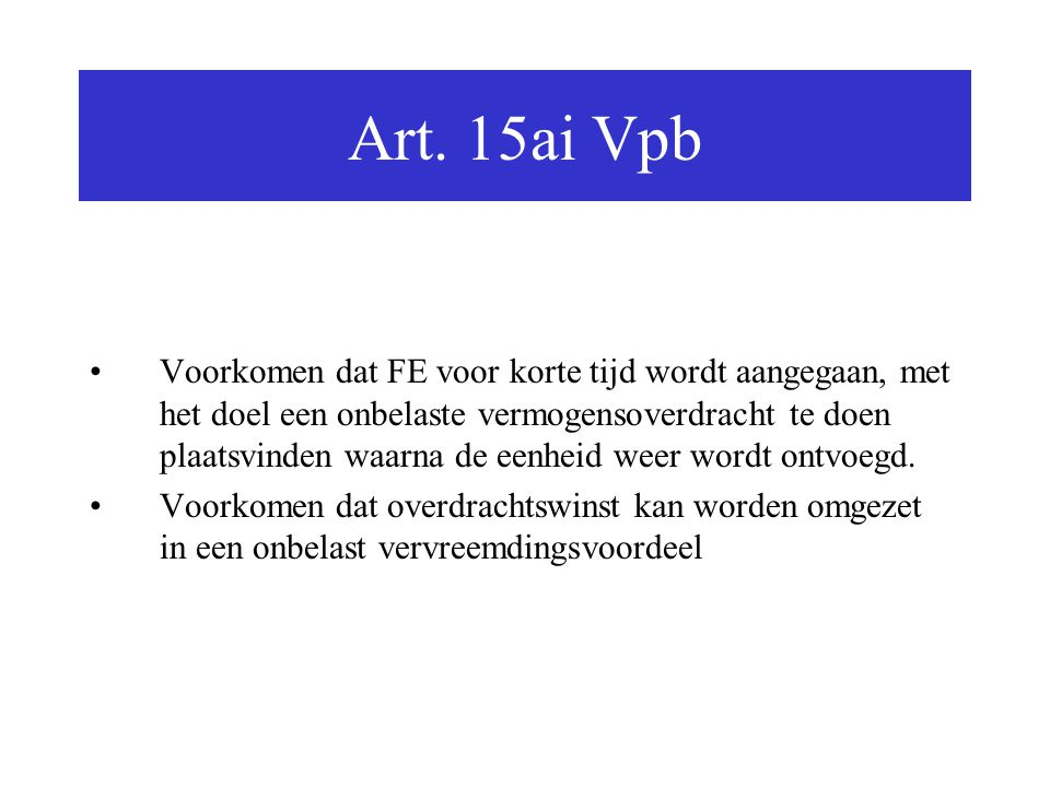 Art. 15ai Vpb