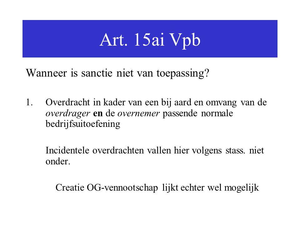 Art. 15ai Vpb Wanneer is sanctie niet van toepassing