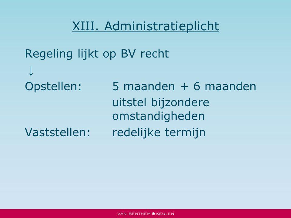 XIII. Administratieplicht