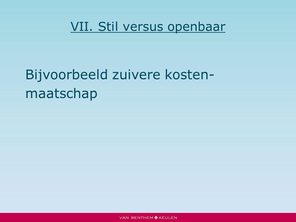 VII. Stil versus openbaar