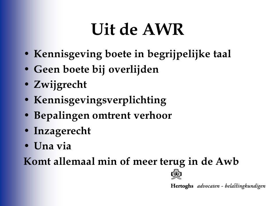 Uit de AWR Kennisgeving boete in begrijpelijke taal