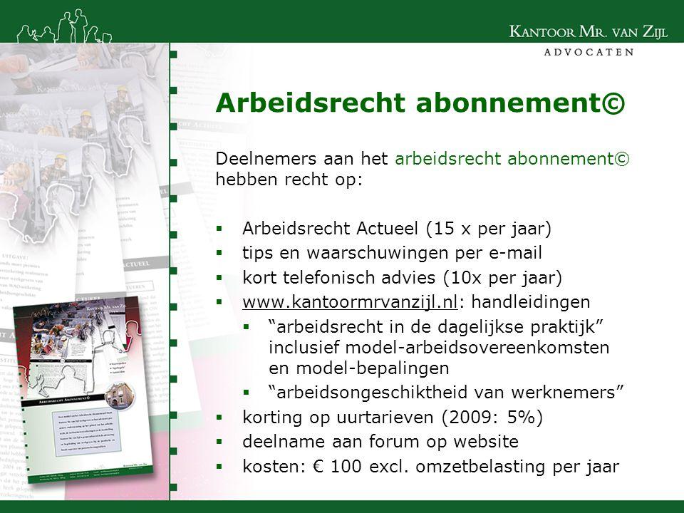 Arbeidsrecht abonnement©