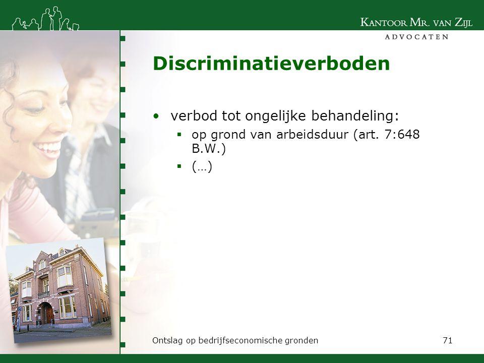 Discriminatieverboden