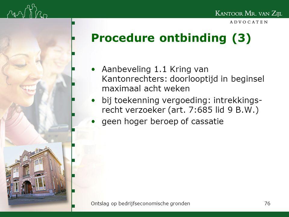 Procedure ontbinding (3)