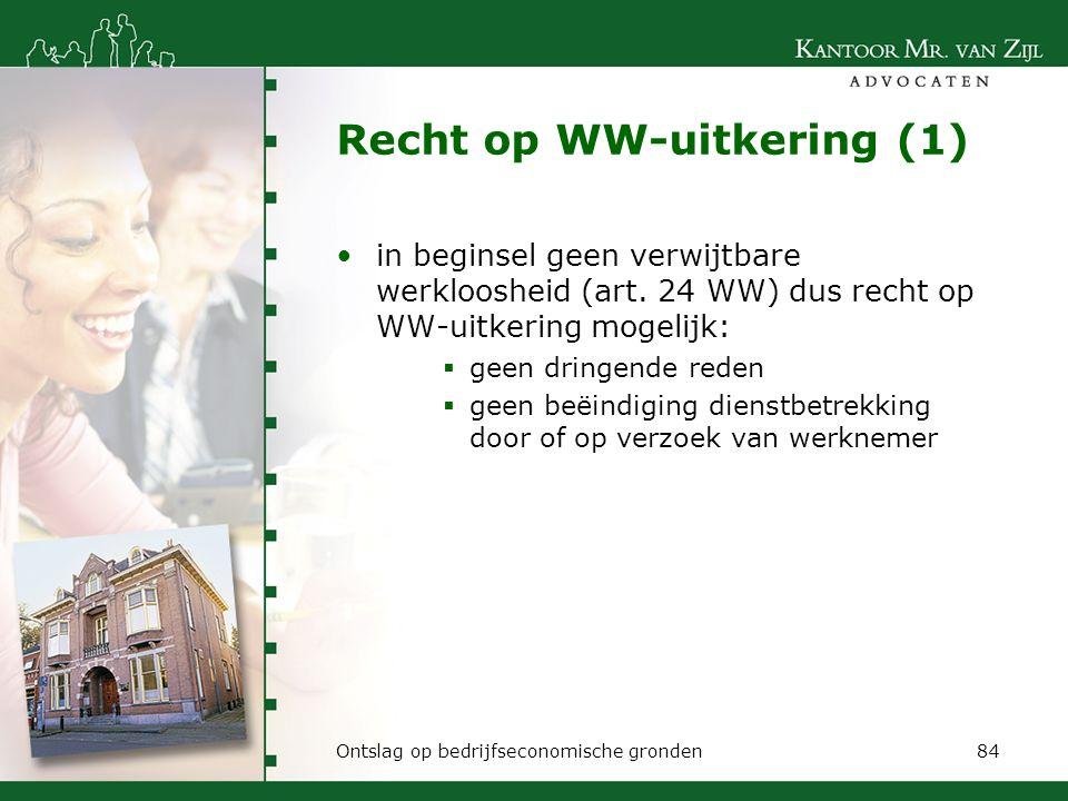 Recht op WW-uitkering (1)