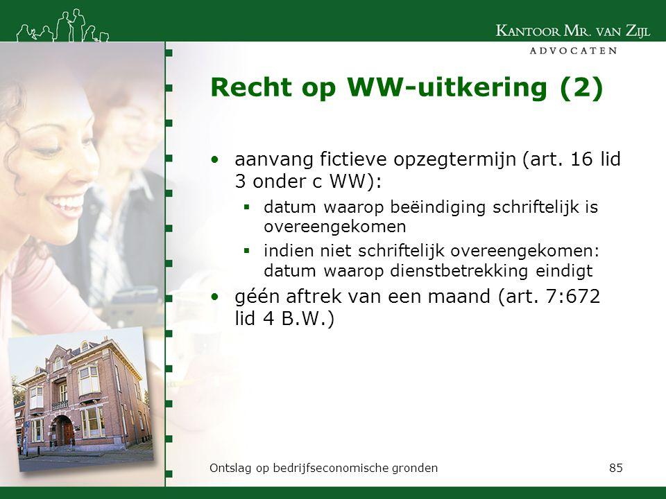 Recht op WW-uitkering (2)