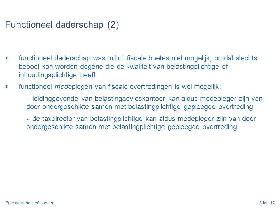 Functioneel daderschap (2)