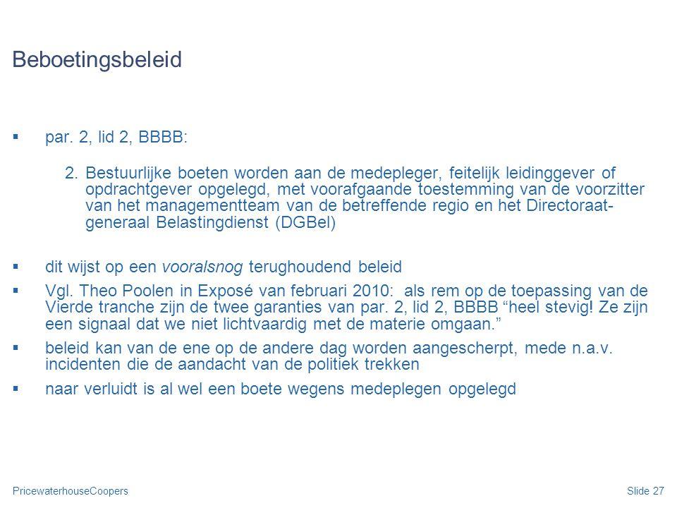 Beboetingsbeleid par. 2, lid 2, BBBB: