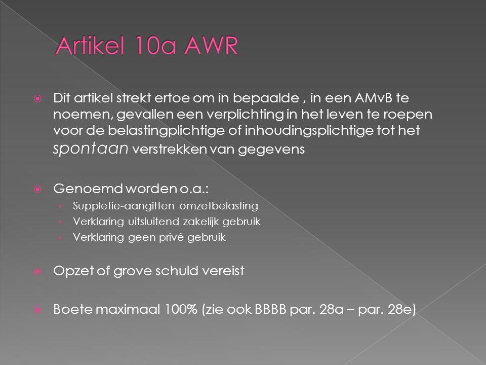 Artikel 10a AWR