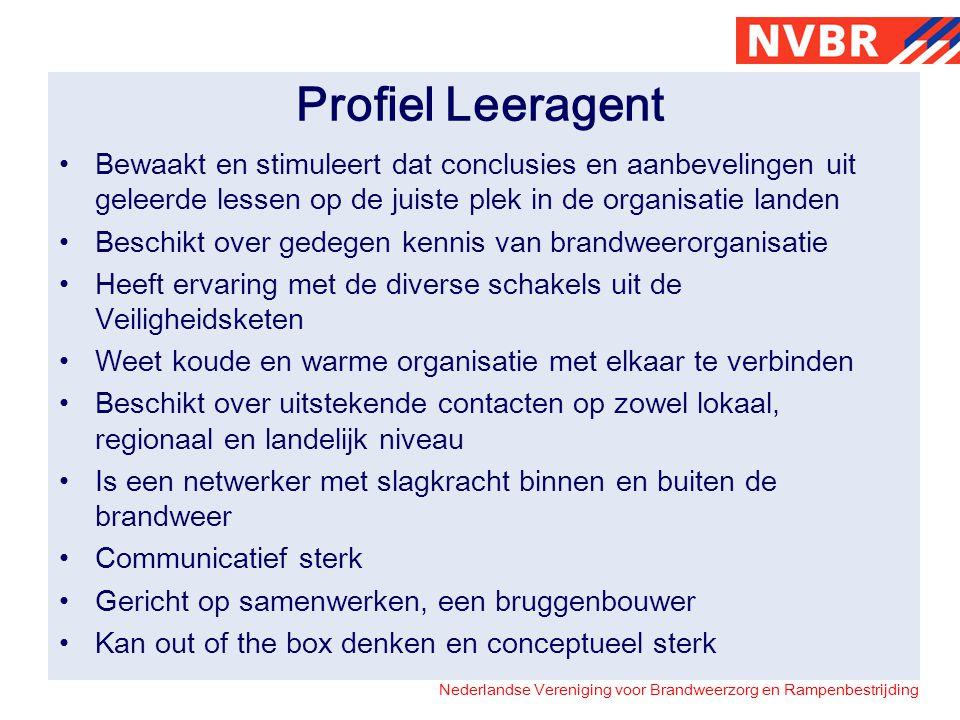 Profiel Leeragent Bewaakt en stimuleert dat conclusies en aanbevelingen uit geleerde lessen op de juiste plek in de organisatie landen.