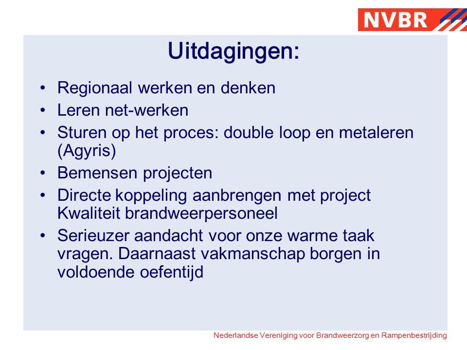 Uitdagingen: Regionaal werken en denken Leren net-werken