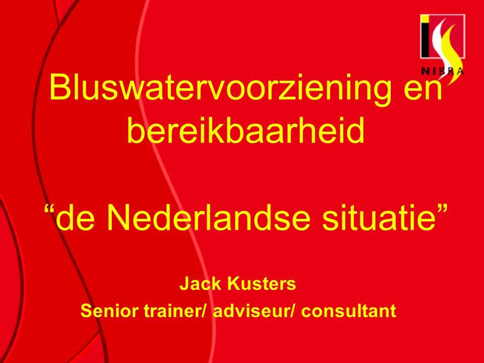 Bluswatervoorziening en bereikbaarheid de Nederlandse situatie