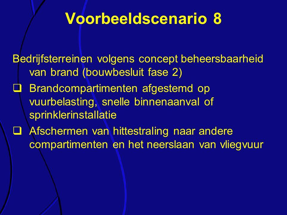 Voorbeeldscenario 8 Bedrijfsterreinen volgens concept beheersbaarheid van brand (bouwbesluit fase 2)