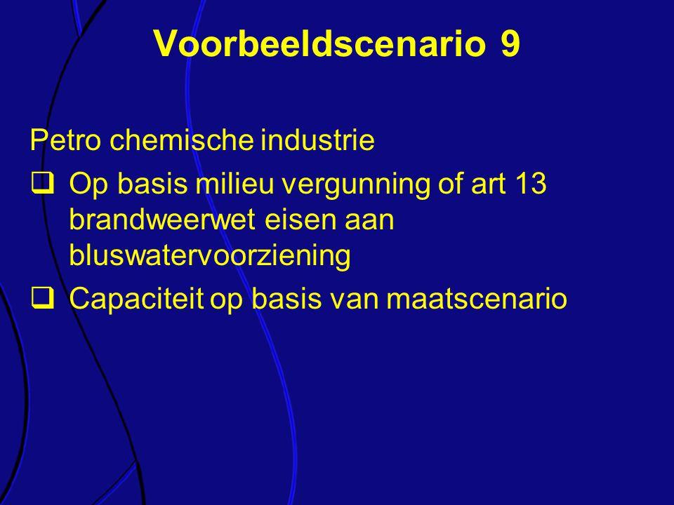 Voorbeeldscenario 9 Petro chemische industrie