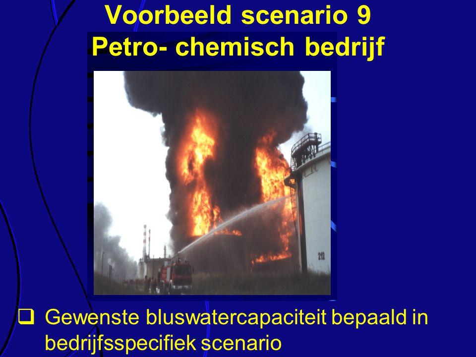 Voorbeeld scenario 9 Petro- chemisch bedrijf