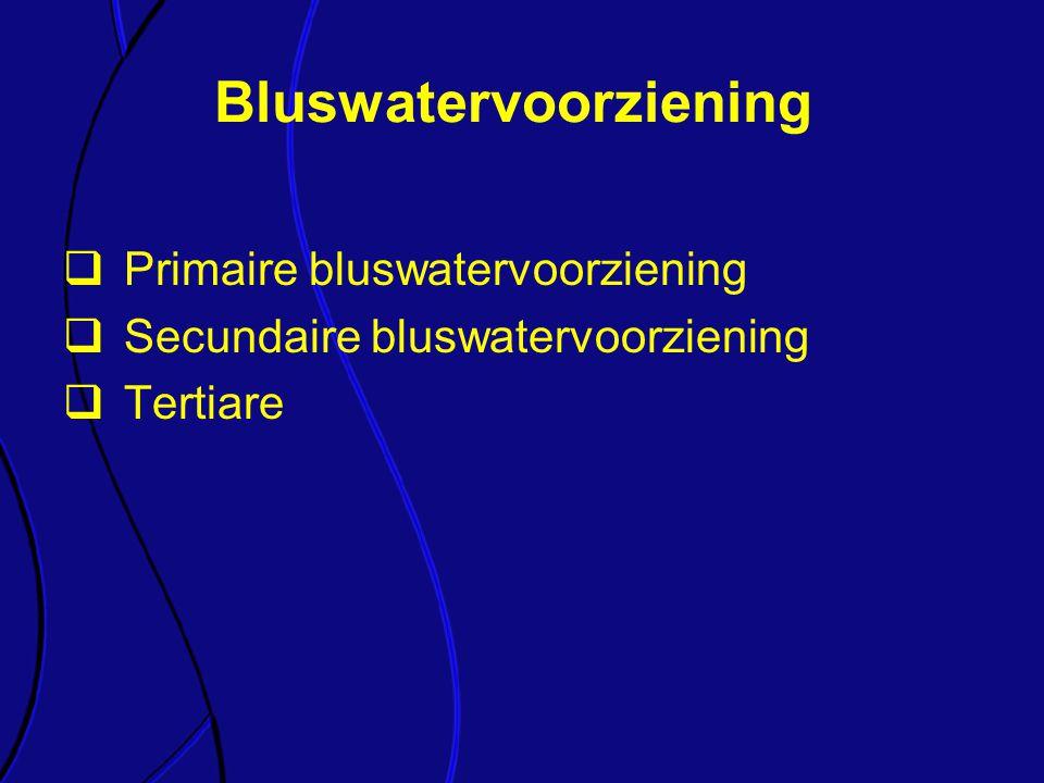 Bluswatervoorziening