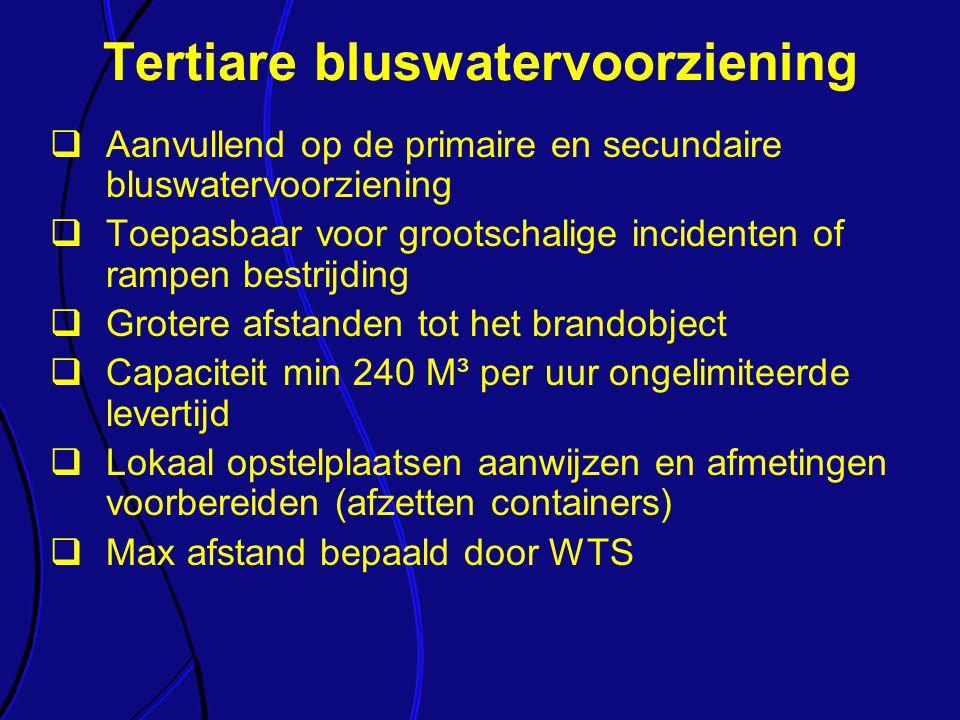 Tertiare bluswatervoorziening