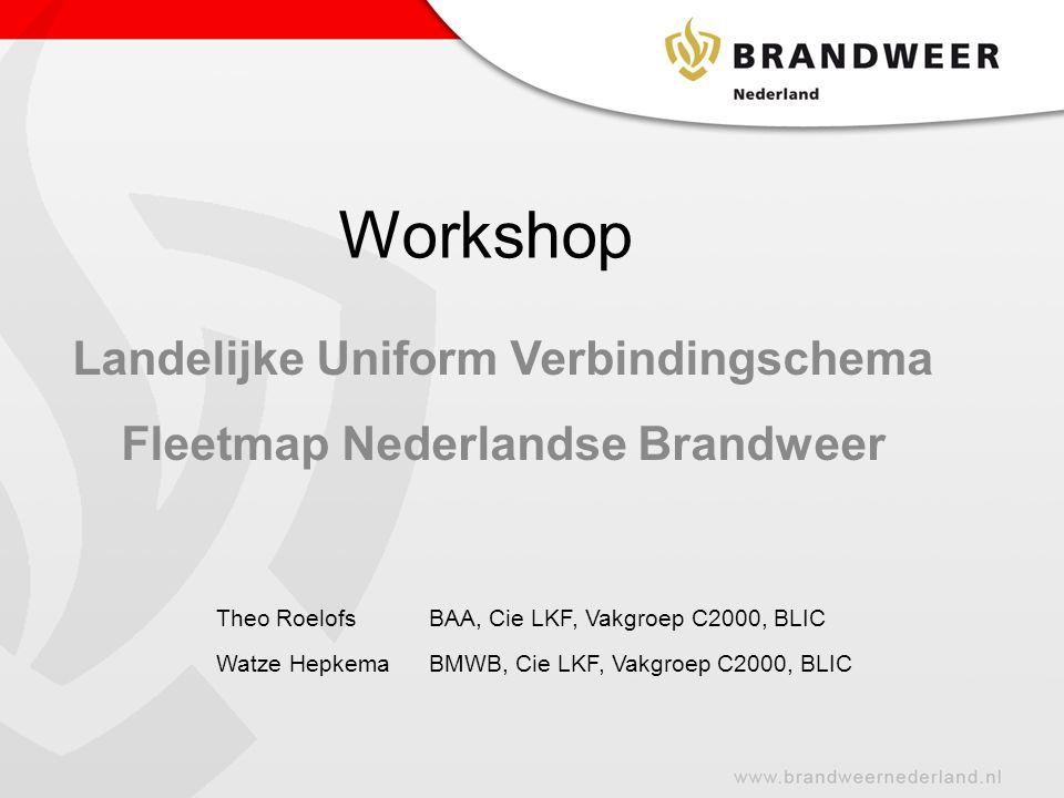 Landelijke Uniform Verbindingschema Fleetmap Nederlandse Brandweer