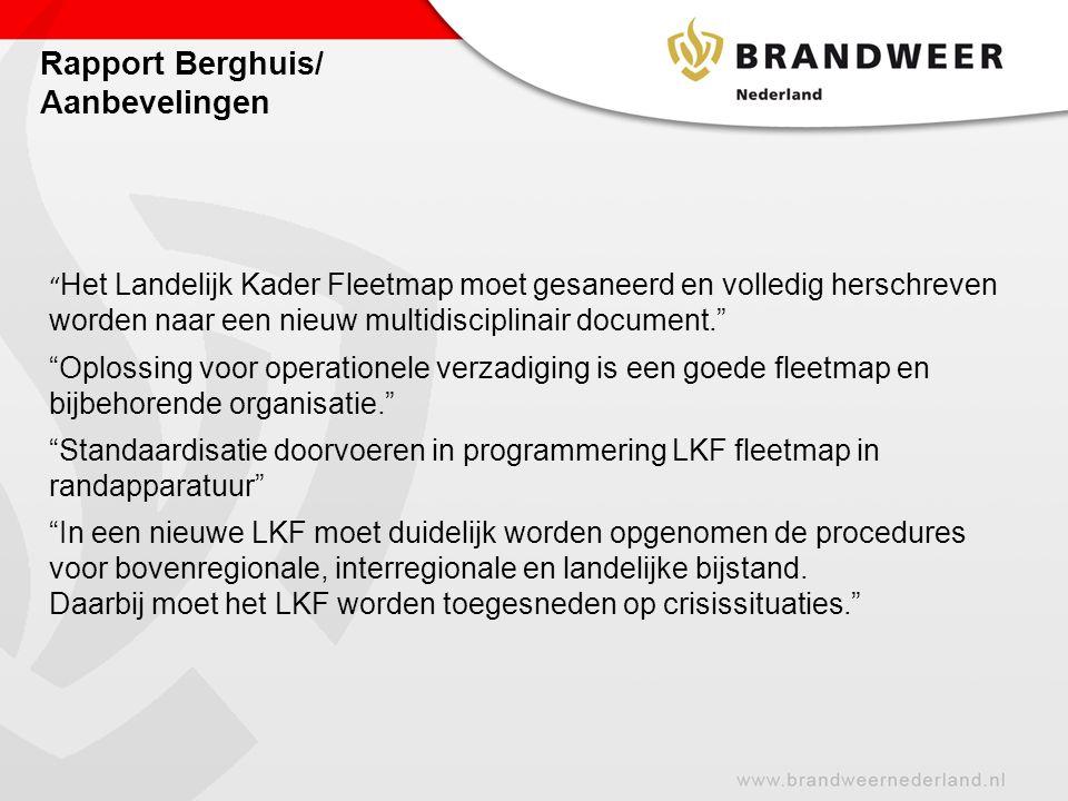Rapport Berghuis/ Aanbevelingen