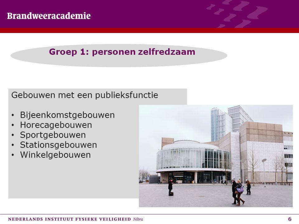 Groep 1: personen zelfredzaam