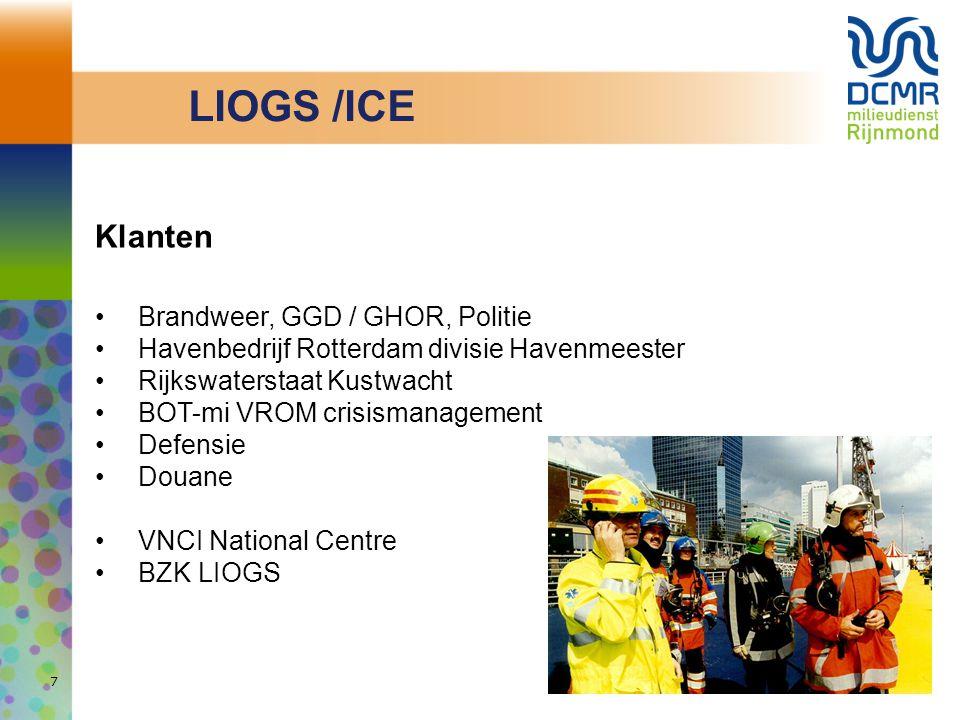 LIOGS /ICE Klanten Brandweer, GGD / GHOR, Politie