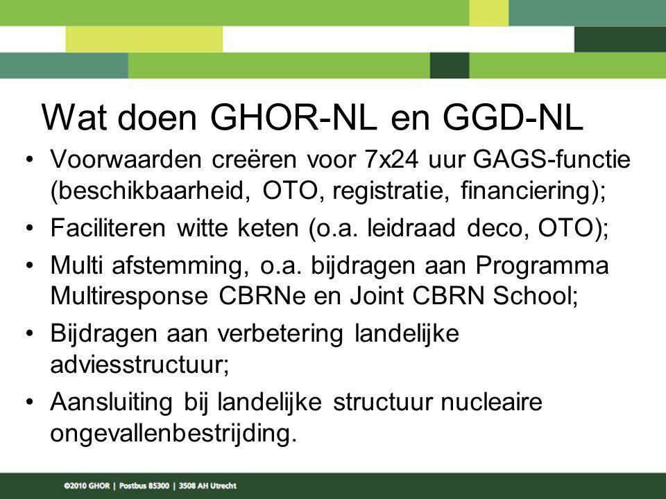 Wat doen GHOR-NL en GGD-NL