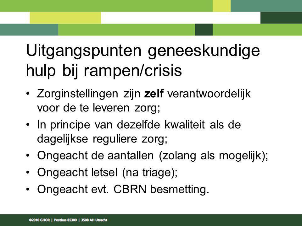 Uitgangspunten geneeskundige hulp bij rampen/crisis