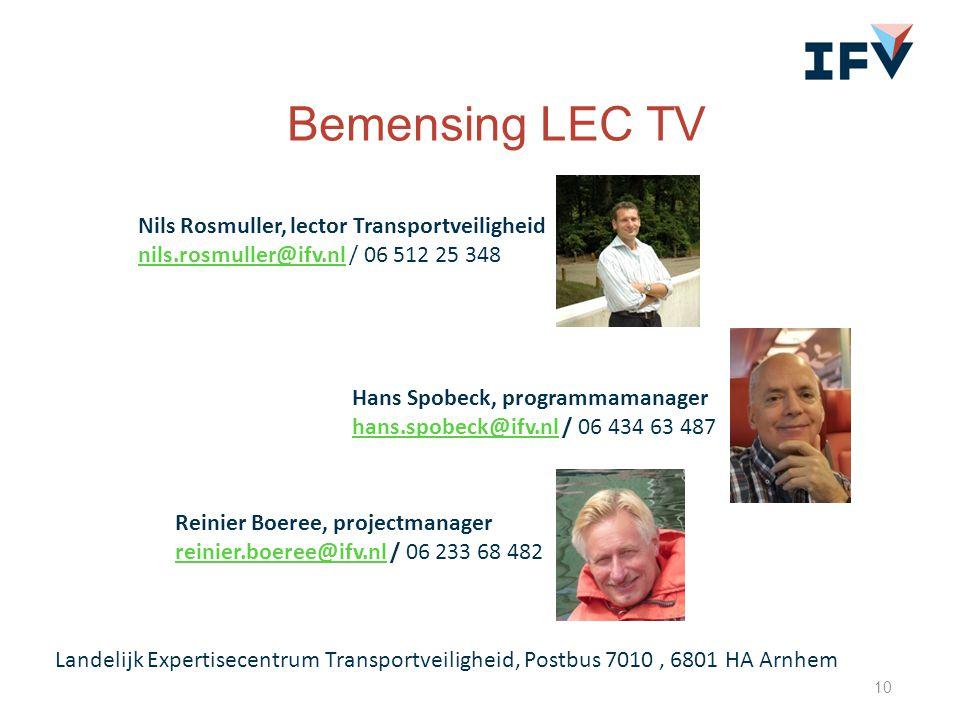 Bemensing LEC TV Nils Rosmuller, lector Transportveiligheid