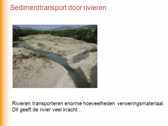 Sedimenttransport door rivieren
