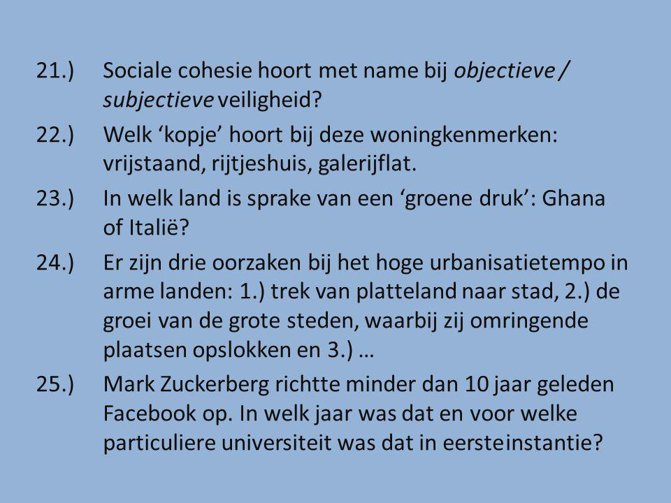 21. ). Sociale cohesie hoort met name bij objectieve /