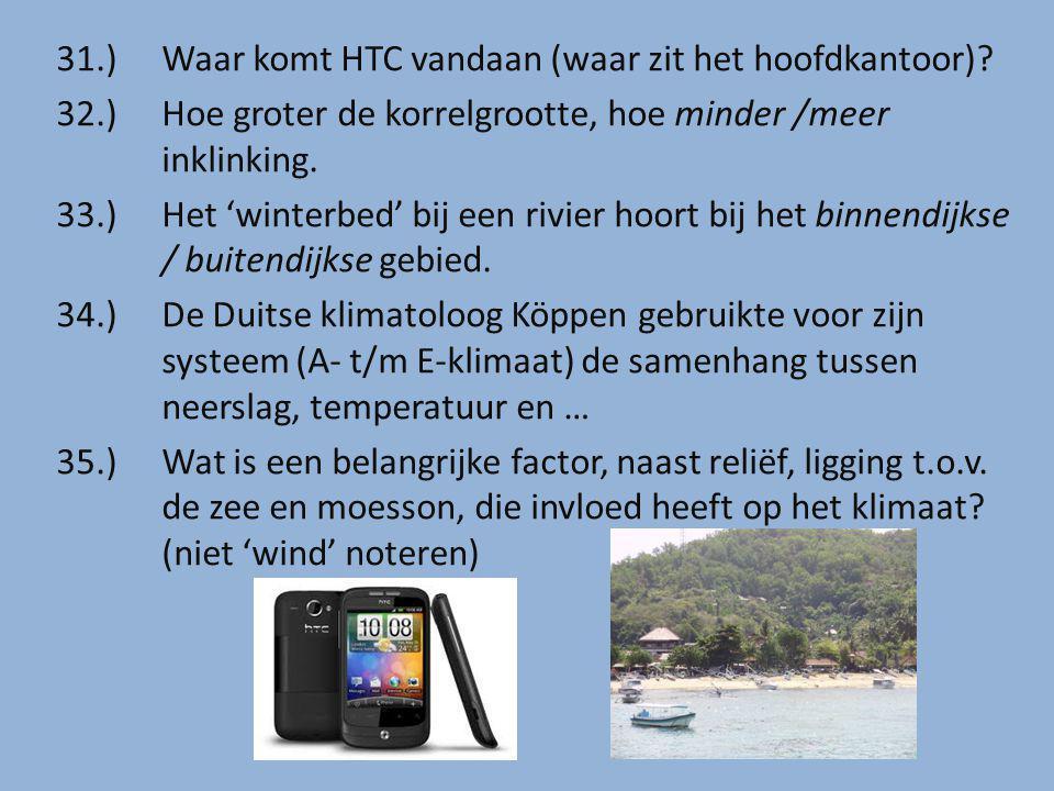 31.) Waar komt HTC vandaan (waar zit het hoofdkantoor)