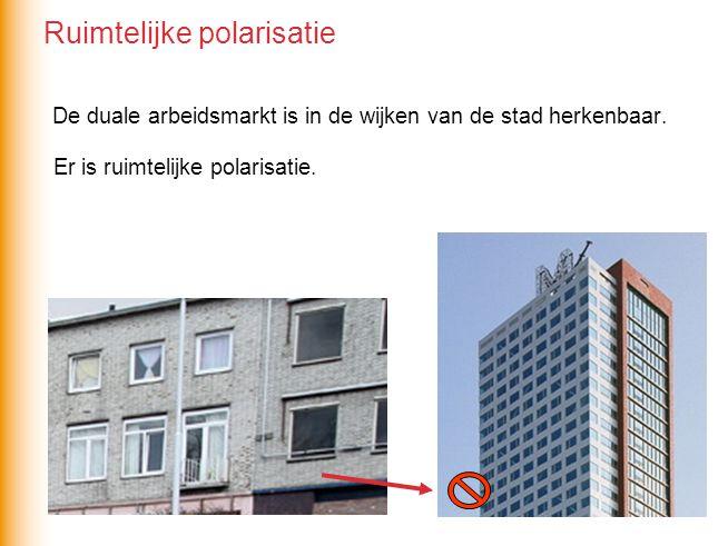 De duale arbeidsmarkt is in de wijken van de stad herkenbaar.