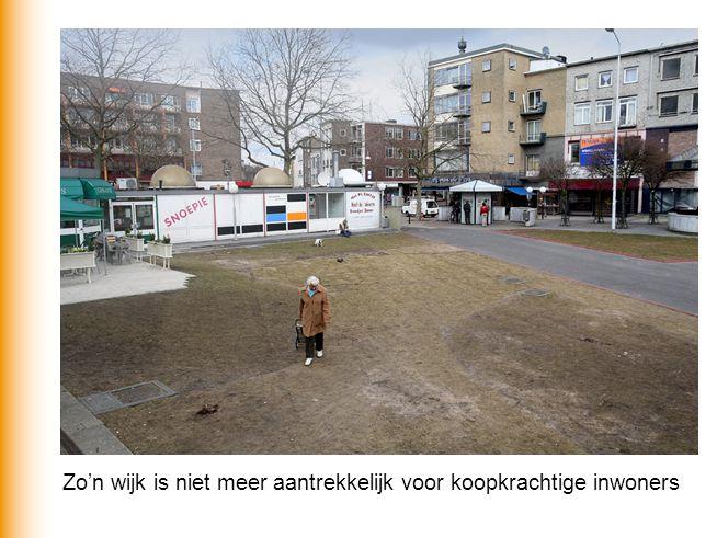 Zo'n wijk is niet meer aantrekkelijk voor koopkrachtige inwoners